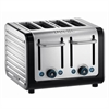 DUALIT ARCHITECT 4 SLICE TOASTER - BØRSTET STÅL | SORT
