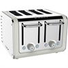 DUALIT ARCHITECT 4 SLICE TOASTER - POLERET STÅL | CANVAS HVID