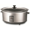 MORPHY RICHARDS SLOWCOOKER 6,5L BØRSTET  STÅL