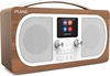 Pure Evoke H6  DAB+ Stereo Radio med Bluetooth - Walnut